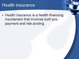 Pooling arrangements are in sync with the concept of insurance. Insurance As A Subfunction Of Finance Relations Between