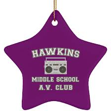 Ornament Size Chart Hawkins Middle School Christmas Ornaments Products