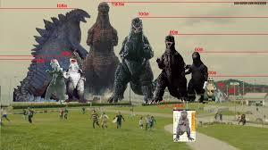 Godzilla Chart Hard Boiled Kaijuland A Pretty Nice Godzilla Size Chart By