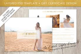 Photography Gift Certificate Template Photography Gift Certificate Template Photo Gift Card Layered