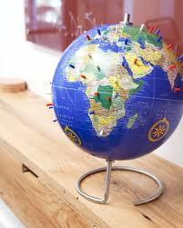 world globe on stand. Bullseye Office - Traditional Blue Magnetic World Globe With Stand 10\ On D
