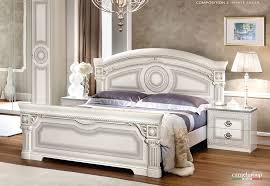 White italian furniture Classic Italyaidawhitesilverqueenbedjpg Furniture Stores Los Angeles Aida White Italian Bedroom Furniture