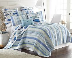 blue cotton quilt. Perfect Blue Levtex Catalina Fish King Cotton Quilt Set Blue Inside 1