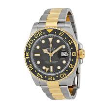rolex watches jomashop rolex gmt master ii black dial stainless steel and 18kt yellow gold oyster automatic men s watch 116713bkso