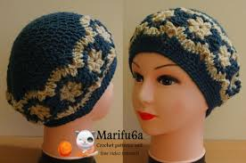 Crochet Beret Pattern Custom How To Crochet Beret Hat With Flowers Free Pattern Tutorial YouTube