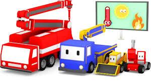 Tiny Trucks The Fire Truck Learn With Tiny Trucks Bulldozer Crane