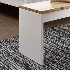 140x45x35 Schlafzimmer Bank In Weiß Kiefer Aus Massivholz Myscia
