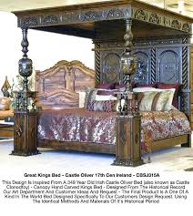 Mahogany Antique Four Poster Bed Double Vintage 4 Bedroom Sets