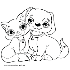 Dog Coloring Books Cat Dog Coloring Pages Free Puppy Dog Pals