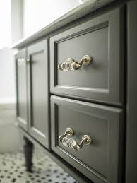 crystal furniture knobs. View Full Size. Lovely Bathroom Features Black Double Vanity Accented With Antique Crystal Hardware Furniture Knobs L