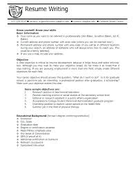 College Resume Objective – Creer.pro