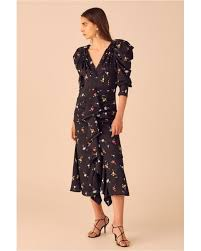 C Meo Collective Size Chart Womens Black Vices Long Sleeve Dress