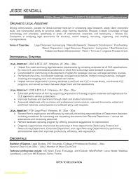 Entry Level Administrative Assistant Resume New Legal Secretary