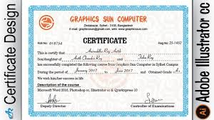 how to make a certificate of completion creating professional computer certificate design in illustrator cc