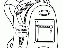 Small Picture An Open Backpack Coloring Pages Best Place To Color Backpack