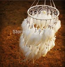 Purchase Dream Catchers Artistic New Fashion Gift Hot White Feather Dreamcatcher Wind 82