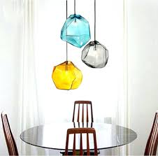 glass ceiling pendant light modern design candy color ice glass hanging lighting ceiling lamp cafe bar
