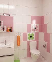 Bilder 3d Interieur Badezimmer Grün Rosa Ral Fete 12