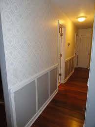 hallway finally. stenciled hallway finally finished wall decor transformed with stencil and paint c