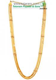 22k gold 5 lines chain chandanhaar