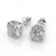 14k white gold swarovski earrings