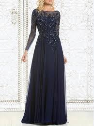 <b>Top Selling</b> Elegant Navy Blue <b>Mother</b> Of The Bride Dresses Chiffon ...