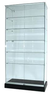 medium size of display cabinet glass front clear case lighted wall locks sliding door trophy enc