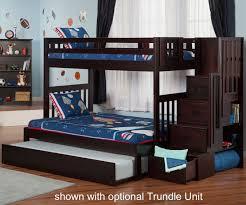 Cascade Espresso Twin over Full Staircase Bunk Bed