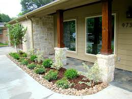 Image Of: Natural Front Porch Columns With Stone