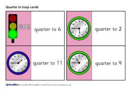 Quarter Cards Quarter To Loop Cards Sb1413 Sparklebox
