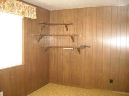 how to paint wood paneling before and after