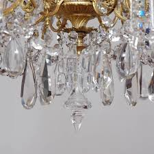 scandinavian cut glass and crystal chandelier with twelve lights circa 1880 in good condition