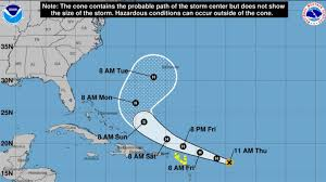 Hurricane Jerry path: Hurricane Jerry now Category 1, National ...