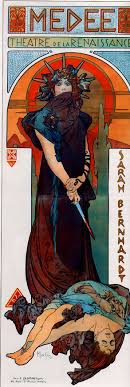 medea simple english the encyclopedia a poster by alfons mucha for a theatre piece starring sarah bernardt as medea 1898