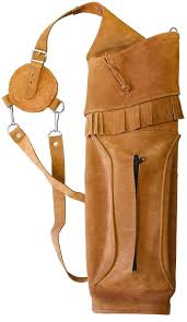 honcho split grain leather back quiver