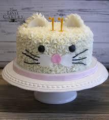 Cat Cake Butter Cream Fur Girls Birthday Animal Cake Next Level