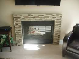 glass tile fireplace glass designs