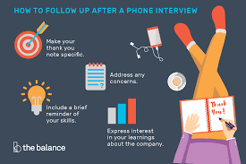 Learn How To Follow Up With A Thank You Letter After A Phone Interview