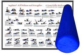 Deluxe Foam Roller With Workout Poster