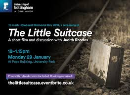 The Little Suitcase: Short film and discussion with Judith Rhodes - The  University of Nottingham