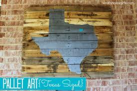 Pallet Art Crafty Texas Girls Craft It Pallet Art Texas Sized