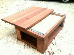 sliding coffee table picture coffee table sliding top with diy wood antique paint