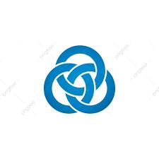 переплетение кружок логотипа концепции вектор изолированные