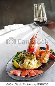 gourmet lobster dinner. Fine Lobster Gourmet Lobster Dinner At The Restaurant  Csp12928038 Inside Lobster Dinner