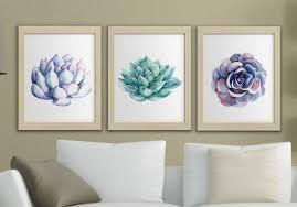 watercolor wall art set
