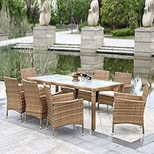 wicker outdoor dining set. IKayaa 9PCS Outdoor Dining Set Wicker Patio Table And Chairs Furniture I