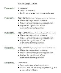sample paragraph essay outline paragraph school and english sample 5 paragraph essay outline