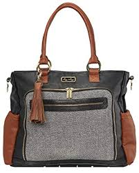 Itzy Ritzy Tribe Tote Diaper Bag Tote in Coffee and Cream