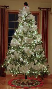 Snowman Christmas Tree - maybe without the snowman on top- so pretty  How  to Make Your Decorated ...