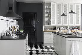 black and white tile floor kitchen. New Ideas White Floor Tile Kitchen Modern Bistro Black And Decoist T